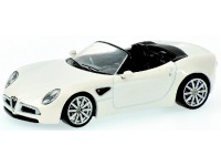 MODELLINO ALFA ROMEO 8C SPIDER WHITE METALLIC IN METALLO MINICHAMPS