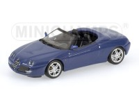 MODELLINO ALFA ROMEO SPIDER 2003 BLUE METALLIC IN METALLO MINICHAMPS
