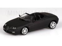 MODEL ALFA ROMEO SPIDER 2003 MATT BLACK FULDA IN METAL MINICHAMPS