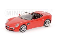 MODELLINO ALFA ROMEO 8C SPIDER 2007 RED IN METALLO MINICHAMPS