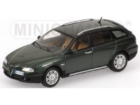 MODELLINO ALFA ROMEO 156 CROSSWAGON 2004 GREEN METALLIC IN METALLO MINICHAMPS