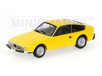 MODELLINO ALFA ROMEO 1600 JUNIOR Z 1972 YELLOW IN METALLO MINICHAMPS