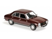MODELLINO PEUGEOT 504 DARK RED 1970 IN METALLO MINICHAMPS