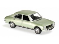 MODELLINO PEUGEOT 504 LIGHT GREEN METALLIC 1970 IN METALLO MINICHAMPS