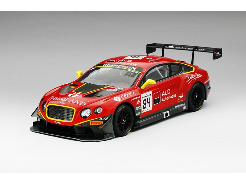 MODELLINO BENTLEY GT3 n.84 TEAM HTP 24H SPA 2015 IN RESINA TSM