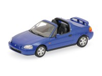 MODELLINO HONDA CIVIC DEL SOL 1993 BLU IN METALLO MINICHAMPS