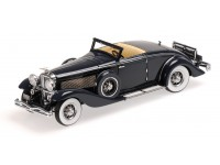 MODELLINO DUESENBERG SJN SUPERCHARGED CONVERTIBLE COUPE' 1936 BLU SCURO IN RESINA MINICHAMPS