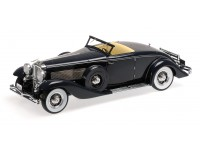 MODELLINO 1/18 DUESENBERG SJN SUPERCHARGED CONVERTIBLE COUPE 1936 DARK BLUE IN RESINA MINICHAMPS