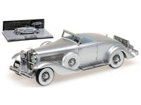 MODELLINO 1/18 DUESENBERG SJN SUPERCHARGED CONVERTIBLE COUPE' 1936 SILVER IN RESINA MINICHAMPS