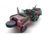 MODELLINO LAND ROVER 1968 SERIES IIA 109 SAS PATROL VEHICLE PINK PANTHER IN RESINA TSM