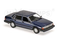 MODELLINO VOLVO 740 GL 1986 BLU SCURO IN METALLO MINICHAMPS