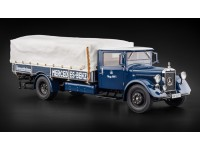 MODELLINO MERCEDES BENZ TRUCK RACING CAR TRANSPORTER LO2750 BLU 1943 IN METALLO MINICHAMPS