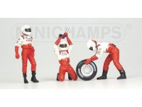 MINICHAMPS 1/43 PIT STOP TOYOTA 2002 CAMBIO GOMME IN RESINA