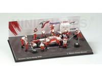 MINICHAMPS DIORAMA PIT STOP TOYOTA 2002 A. McNISH IN METALLO