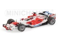 MODELLINO TOYOTA TF106 F1 R.ZONTA TEST 2006 IN METALLO MINICHAMPS