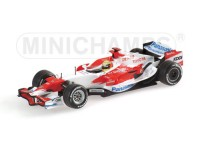 MODELLINO TOYOTA TF107 R. SCHUMACHER 2007 IN METALLO MINICHAMPS