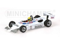 MODELLINO RALT TOYOTA RT3 A. SENNA BRITISH CHAMPION 1983 IN METALLO MINICHAMPS