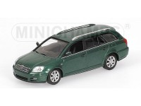 MODELLINO TOYOTA AVENSIS BREAK 2002 VERDE METALLIZZATO IN METALLO MINICHAMPS