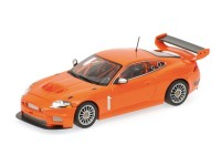 MODELLINO /43 JAGUAR XKR GT3 2008 ORANGE IN METALLO MINICHAMPS
