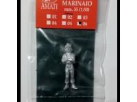 AMATI 8008/06 MARINAIO IN METALLO 35 mm PER MODELLI NAVALI DA 1/56 A 1/44