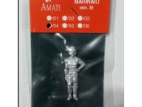 AMATI 8008/04 MARINAIO IN METALLO 35 mm PER MODELLI NAVALI DA 1/56 A 1/44