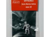 AMATI 8000 UFFICIALE IN METALLO 22 mm PER MODELLI NAVALI DA 1/86 A 1/72