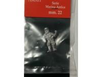 AMATI 8001 MARINAIO IN METALLO 22 mm PER MODELLI NAVALI DA 1/86 A 1/72