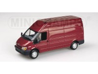 MODEL FORD TRANSIT DELIVERY VAN 2000 RED IN METAL MINICHAMPS