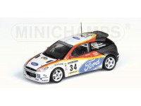 MODELLINO FORD FOCUS RS TEAM WEBER RALLY CATALUNYA 2002 IN METALLO MINICHAMPS