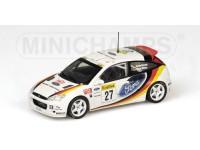 MODELLINO FORD FOCUS RS WRC RALLY MONTE CARLO 2002 IN METALLO MINICHAMPS