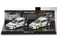 MODELLINI 2 FORD FOCUS RS WRC VINCITORI RALLY MESSICO 2004 IN METALLO MINICHAMPS