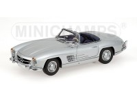 MODELLINO MERCEDES BENZ 300 SL ROADSTER W198II 1955 ARGENTO IN METALLO MINICHAMPS