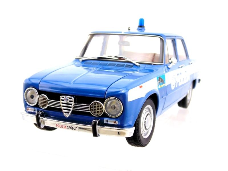 modellino alfa romeo giulia super 1600cc polizia 1970 squadra volante. Black Bedroom Furniture Sets. Home Design Ideas