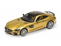 MODEL BRABUS 600 AUF BASIS MERCEDES-BENZ AMG GTS 2016 GOLD COLOR IN RESIN MINICHAMPS