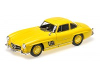 MODELLINO MERCEDES BENZ 300 SL W198I 1954 YELLOW IN METALLO MINICHAMPS