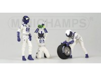 FIGURE 1/43 PIT STOP WILLIAMS CAMBIO GOMME ANTERIORE IN RESINA MINICHAMPS