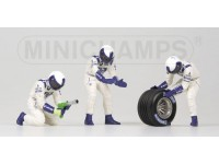 FIGURE 1/43 PIT STOP WILLIAMS CAMBIO GOMME POSTERIORE IN RESINA MINICHAMPS