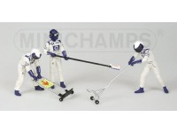 FIGURE 1/43 PIT STOP WILLIAMS JACK SET IN RESINA MINICHAMPS