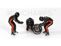 FIGURE 1/18 PIT STOP SET MINARDI CAMBIO GOMME POSTERIORE IN RESINA MINICHAMPS