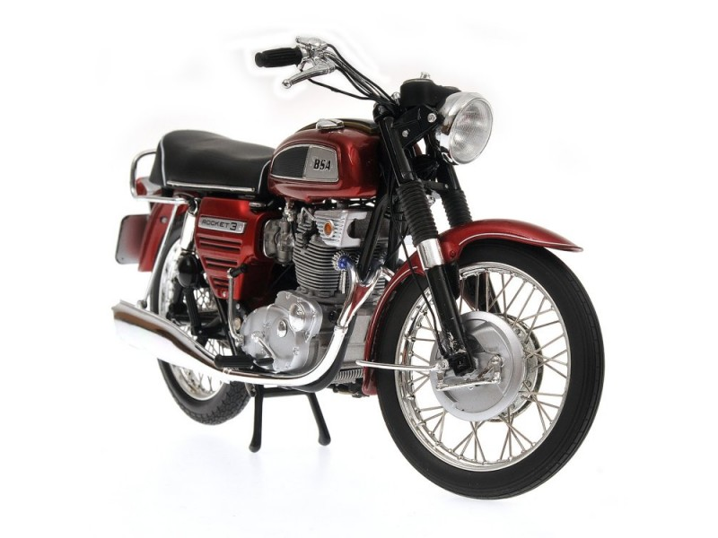 MINICHAMPS MODELLINO MOTO 1:12 BSA ROCKET III 1968 RED