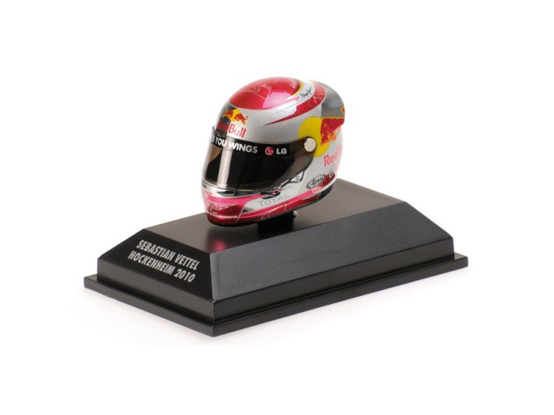 MINICHAMPS MODELLINO 1:8 CASCO HELMET ARAI S. VETTEL GP HOCKENHEIM WORLD CHAMPION F1 2010