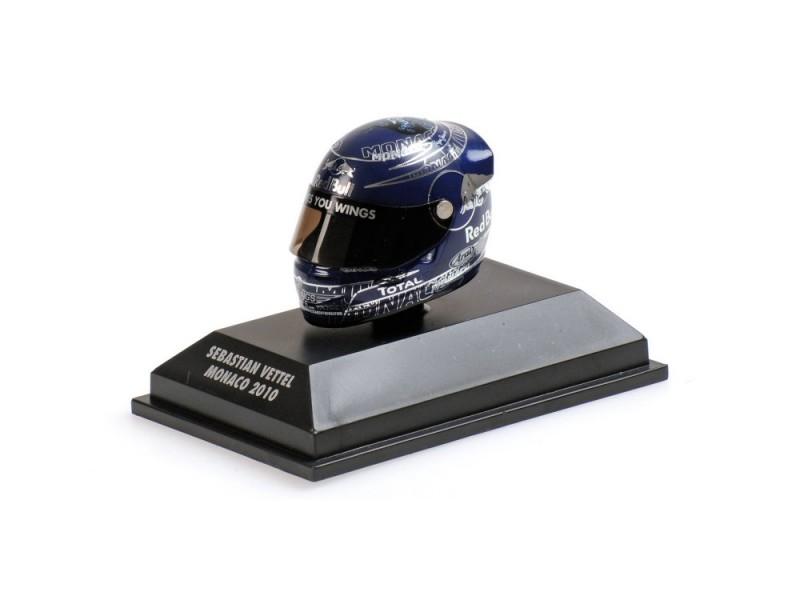 MINICHAMPS MODELLINO 1:8 CASCO HELMET VETTEL GP MONACO WORLD CHAMPION F1 2010