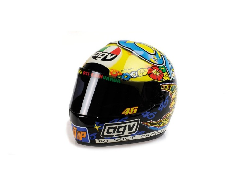 MINICHAMPS MODELLINO 1:2 CASCO HELMET AGV VALENTINO ROSSI GP 250 WORLD CHAMPION 1999