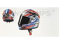 MINICHAMPS MODELLINO CASCO HELMET T. BAYLISS WORLD CHAMPION 2001 1/2