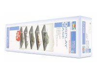 TRUMPETER 5 VETRINETTE IN PLASTICA PER MODELLISMO 90x51x38 mm