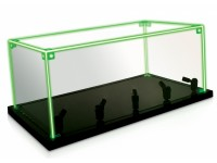METAL EARTH PLASTIC SHOWCASE WITH LIGHTS FOR MODELING cm 35x20x15 h