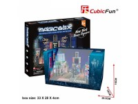 CUBICFUN MODELLINO MAGIC BOX CAPODANNO NEW YORK TIMES SQUARE IN PUZZLE 3D