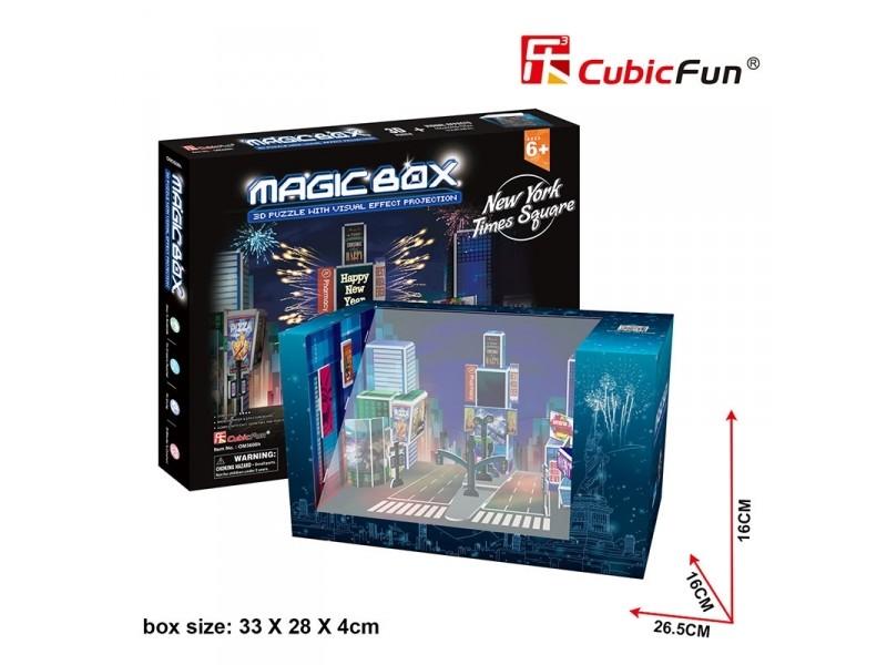 CUBICFUN MODELLINO MAGIC BOX CAPODANNO NEW YORK TIMES SQUARE IN PUZZLE 3D