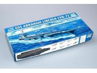 SCATOLA DI MONTAGGIO PORTAEREI USS ABRAHAM LINCOLN CVN-72 TRUMPETER 1/700