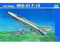 MODELLINO AEREO MIG-21 F-13 IN KIT 1/32 TRUMPETER